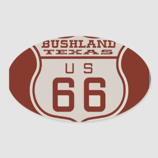 BUSHLANDRT66 OVAL STICKER
