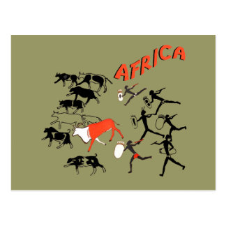 Bushmen cave painting artwork tees and gifts postcard
