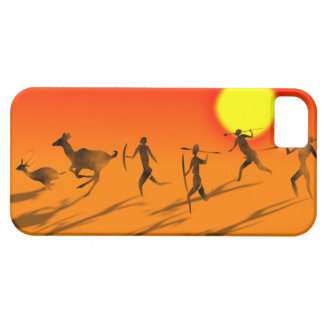 Bushmen  in sunset IPhone case