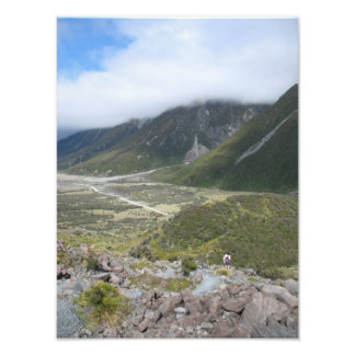 Bushwalking , Tasman Valley, New Zealand Photo Print