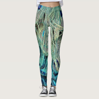 Bushy Peacock Feathers Hidden Leggings