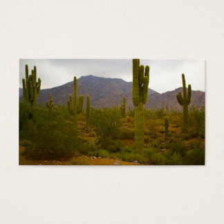 Business, 100 pack, White Bright Sahuaro Cacti Business Card