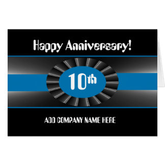 Business 10th Anniversary Congratulations - Ribbon Card