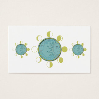 """Business, 3.5"""" x 2.0"""", 100 pack MOON PHASES Business Card"""