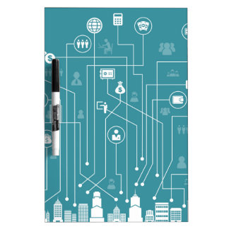 Business a city dry erase board