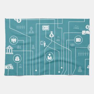 Business a city kitchen towel