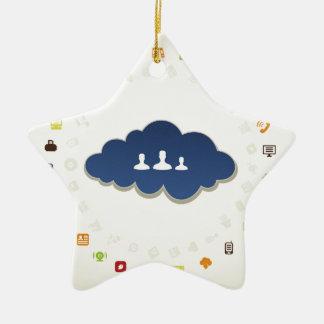 Business a cloud ceramic star ornament