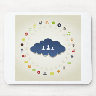 Business a cloud mouse pad