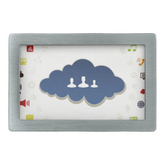 Business a cloud rectangular belt buckle