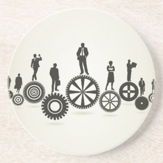 Business a gear wheel coaster