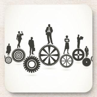 Business a gear wheel drink coaster