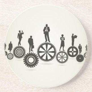 Business a gear wheel drink coasters