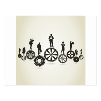 Business a gear wheel postcard