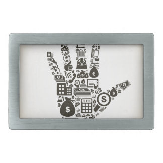 Business a hand2 belt buckle