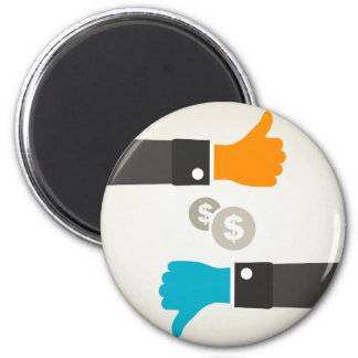 Business a hand 2 inch round magnet