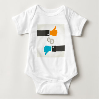 Business a hand baby bodysuit