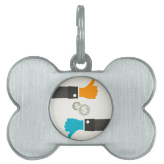Business a hand pet tag