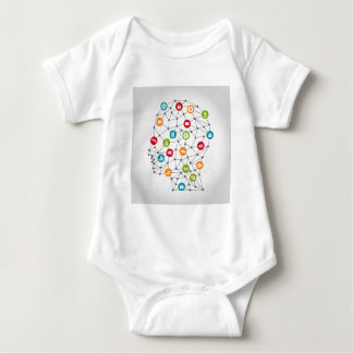 Business a head7 baby bodysuit