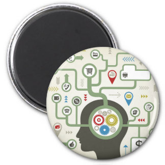 Business a head 2 inch round magnet