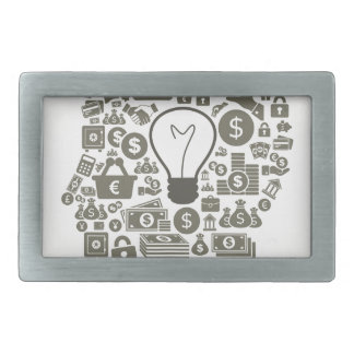 Business a head belt buckle