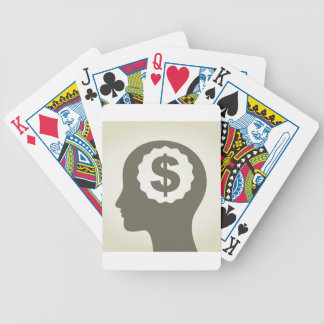 Business a head bicycle playing cards