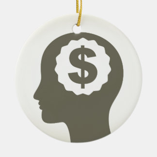 Business a head ceramic ornament