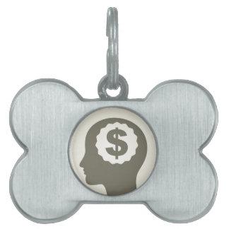 Business a head pet ID tag