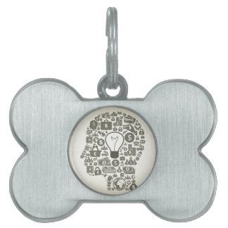 Business a head pet tag