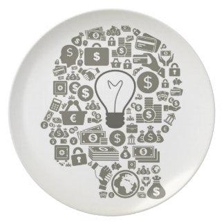 Business a head plate