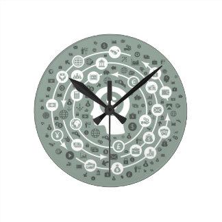 Business a head round clock