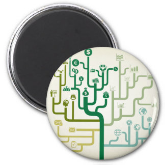 Business a labyrinth 2 inch round magnet