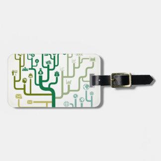 Business a labyrinth bag tag