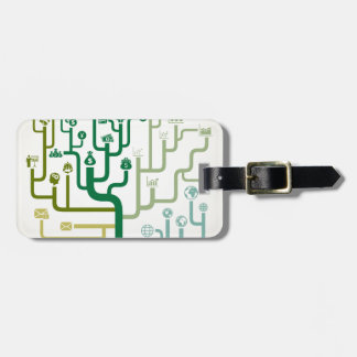 Business a labyrinth luggage tag