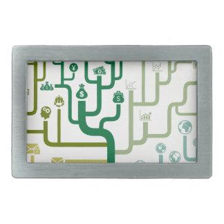Business a labyrinth rectangular belt buckles
