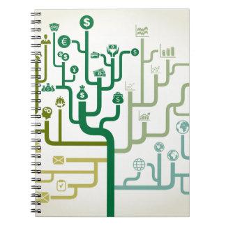 Business a labyrinth spiral notebook