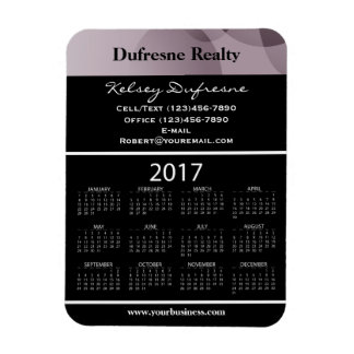 Business Advertising 2017 Calendar Purple Magnet