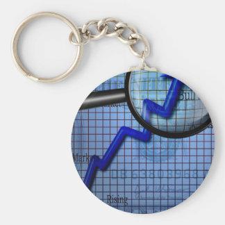 Business Basic Round Button Keychain