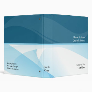 Business Blue Cloud Vinyl Binder