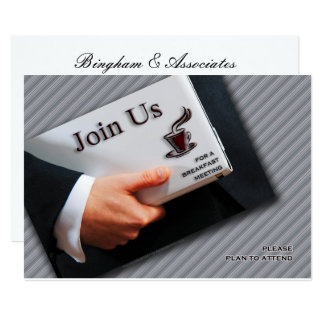 Business Breakfast Meeting Professional Gathering Card