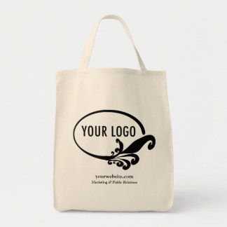 Business Canvas Tote Bag with Custom Logo