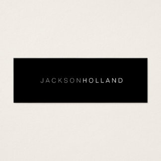 Business Card | 2 Tones Black