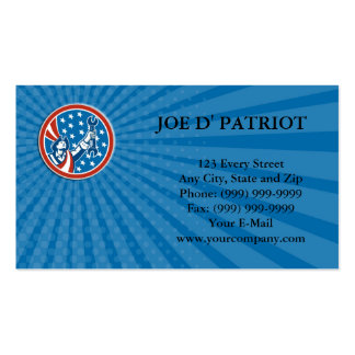 Business card American Patriot Holding Spanner Cir