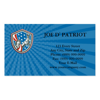 Business card American Patriot Holding Spanner Shi