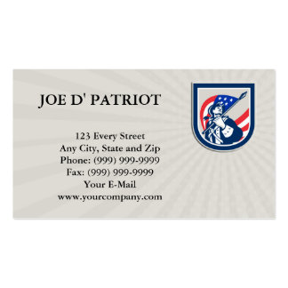 Business card American Patriot Holding USA Flag Lo
