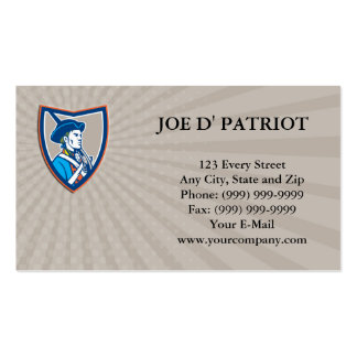 Business card American Patriot Musket Side Shield