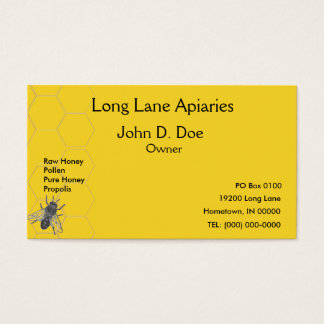 Business Card - Apiary - Beekeeping