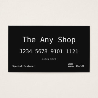 Business Card | Black Card