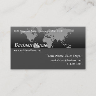 Contemporary world map business cards business card printing business card black grey world map design 4 gumiabroncs Images
