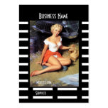 Business Card Black Pin up Girl Vintage retro Business Card