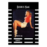 Business Card Black Pin up Girl Vintage retro Business Card Template